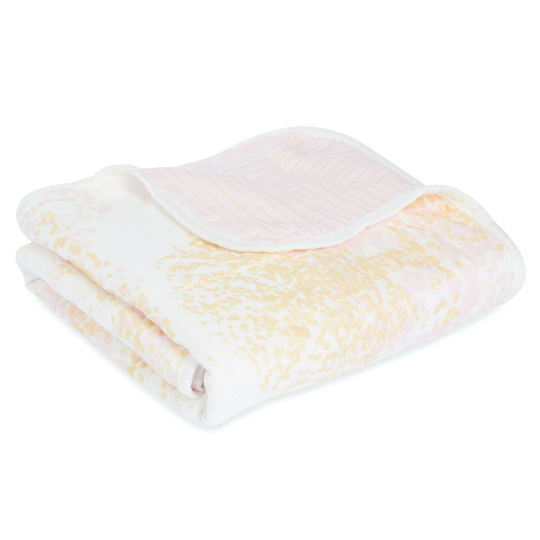 Aden + Anais Silky Soft Stroller Blanket - Metallic Primrose - Bloom Kids Collection - Aden + Anais