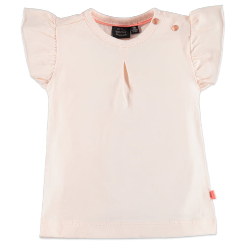 Babyface Baby Girls Ruffle Sleeve Tee - Pink Cloud - Bloom Kids Collection - Babyface