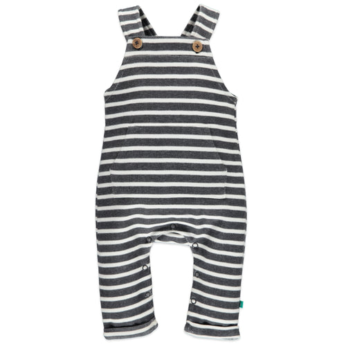 Babyface Baby Boy Sweatpant Overalls - Dark Grey