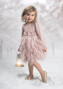 Isobella & Chloe Adora Belle Dress - Mauve - Bloom Kids Collection - Isobella & Chloe