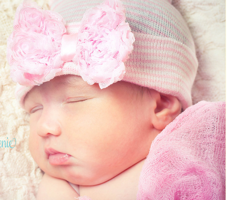 Infanteenie Beenie It's A girl - LPink Newborn Hat - Bloom Kids Collection - Infanteenie Beenie