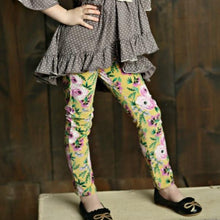Mustard Pie Vintage Violet Leila Legging - Yellow Floral - Bloom Kids Collection - Mustard Pie