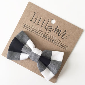 Little Mister Bow Tie - Black Check - Bloom Kids Collection - Little Mister
