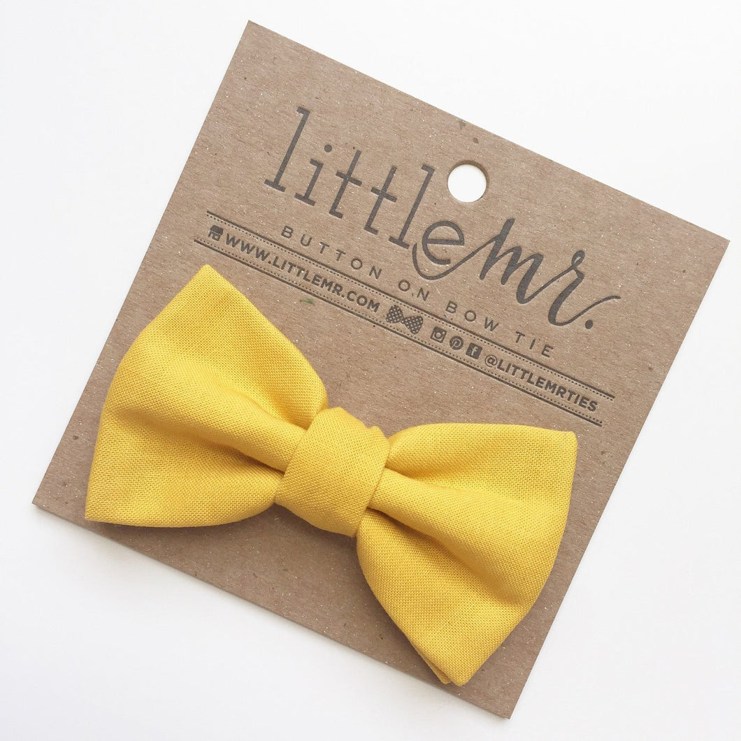 Little Mister Bow Tie - Mustard - Bloom Kids Collection - Little Mister