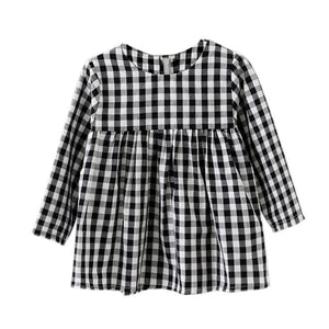 Black and White Check Tunic/Dress - Bloom Kids Collection - Bloom Kids Collection