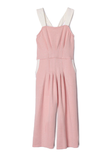 Isobella and Chloe Sugar & Sparkle Jumpsuit - Pink - Bloom Kids Collection - Isobella and Chloe