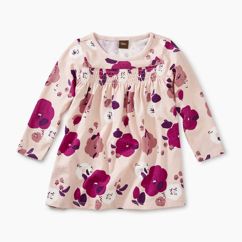 Tea Collection Smocked Baby Dress - Rosada Pop Floral