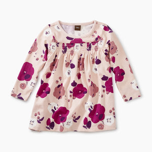 Tea Collection Smocked Baby Dress - Rosada Pop Floral - Bloom Kids Collection - Tea Collection