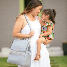 Freshly Picked Classic Diaper Bag - Stone - Bloom Kids Collection - Freshly Picked