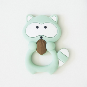 Loulou Lollipop Teether - Mint Raccoon - Bloom Kids Collection - Loulou Lollipop