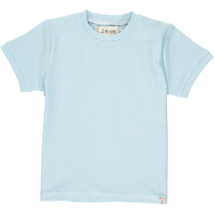 Me & Henry Camber Tee - Blue Micro Stripe