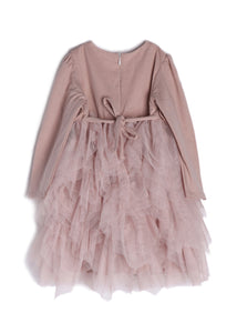 Isobella and Chloe Adora Belle Dress - Mauve - Bloom Kids Collection - Isobella & Chloe