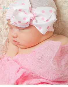 Infanteenie Beenie Pink Polka Dot Newborn Hat - Bloom Kids Collection - Infanteenie Beenie