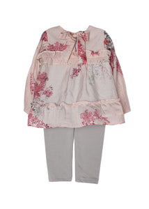 Isobella & Chloe Enchanted Bouquet 2 Piece Set - Light Pink - Bloom Kids Collection - Isobella & Chloe
