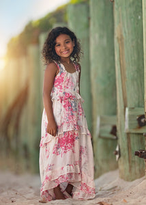 Isobella and Chloe Carnation Bloom Dress - Long - Bloom Kids Collection - Isobella & Chloe