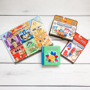 Learning Bundle - Latches, Colors, Letters & Fun - Bloom Kids Collection - Melissa & Doug