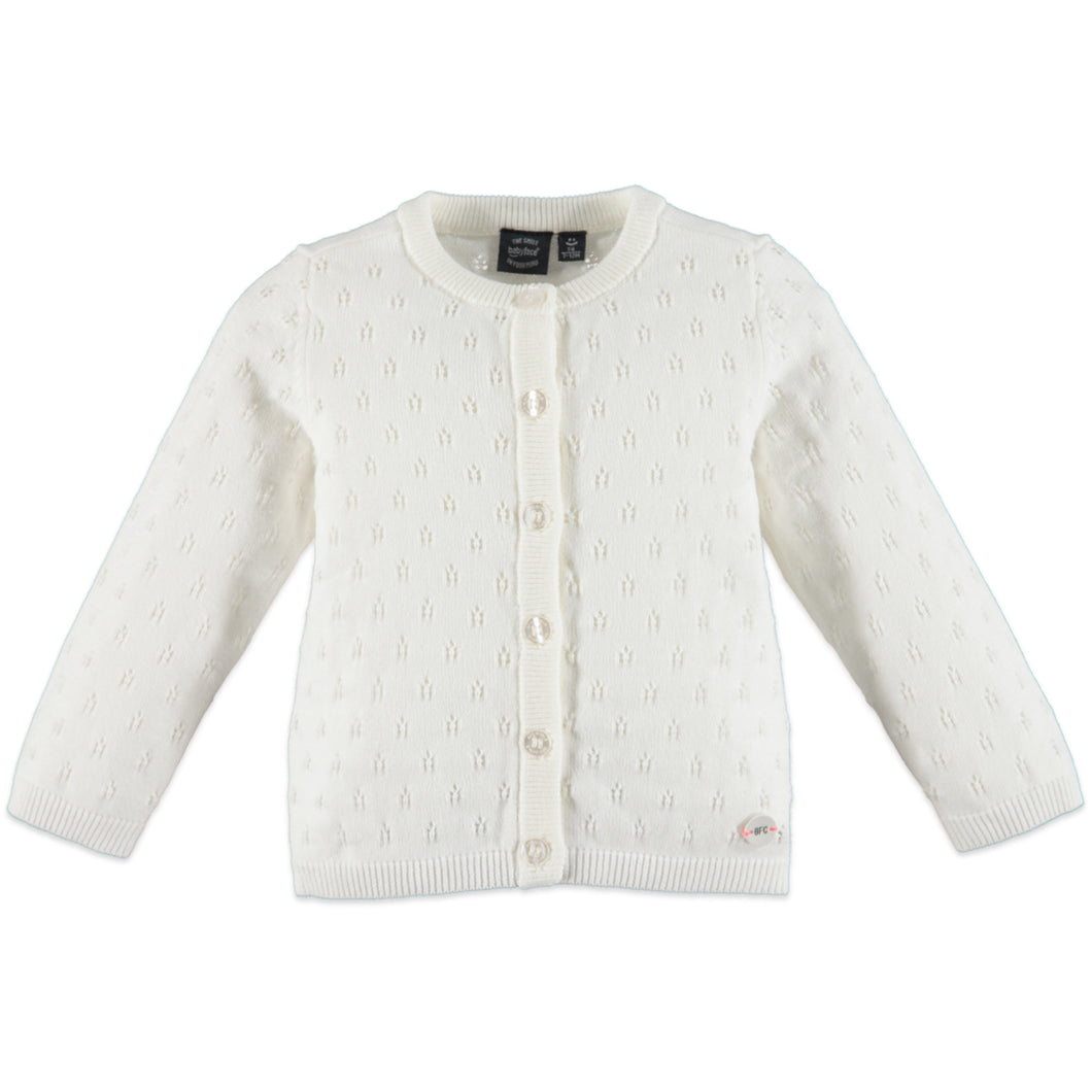 Babyface Girls Cardigan - White Foam - Bloom Kids Collection - Babyface