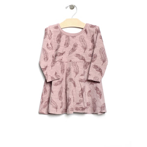 City Mouse Feather Twirl Dress - Mauve - Bloom Kids Collection - City Mouse