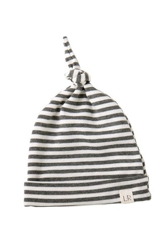 Lulu + Roo Knotted Hat - Gray Stripe - Bloom Kids Collection - Lulu + Roo