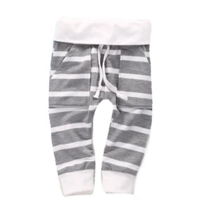 Grey and White Stripe Jogger - Bloom Kids Collection - Bloom Kids Collection