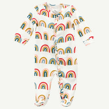 Oliver and Rain Rainbow Print Pima Cotton Sleep and Play