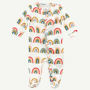Oliver and Rain Rainbow Print Pima Cotton Sleep and Play - Bloom Kids Collection - Oliver and Rain