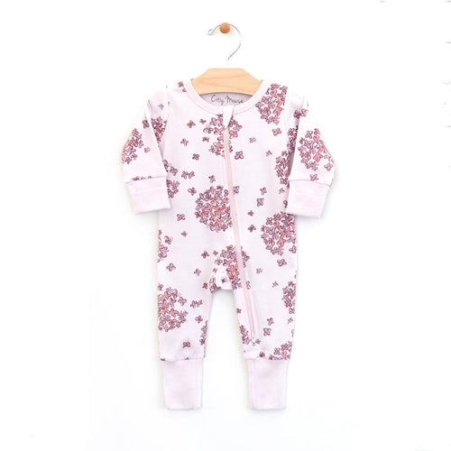 City Mouse Hydrangea 2-Way Zip Romper - Lilac