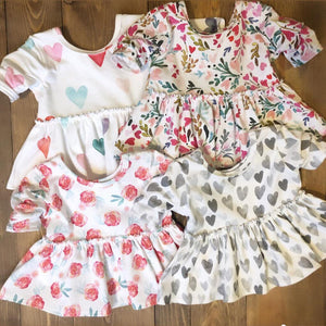 Made by Molly Peplum Top - XOXO - Bloom Kids Collection - Made by Molly