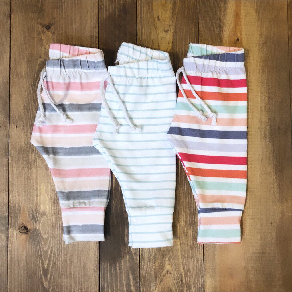 Made by Molly Legging - Mint Stripe - Bloom Kids Collection - Made by Molly