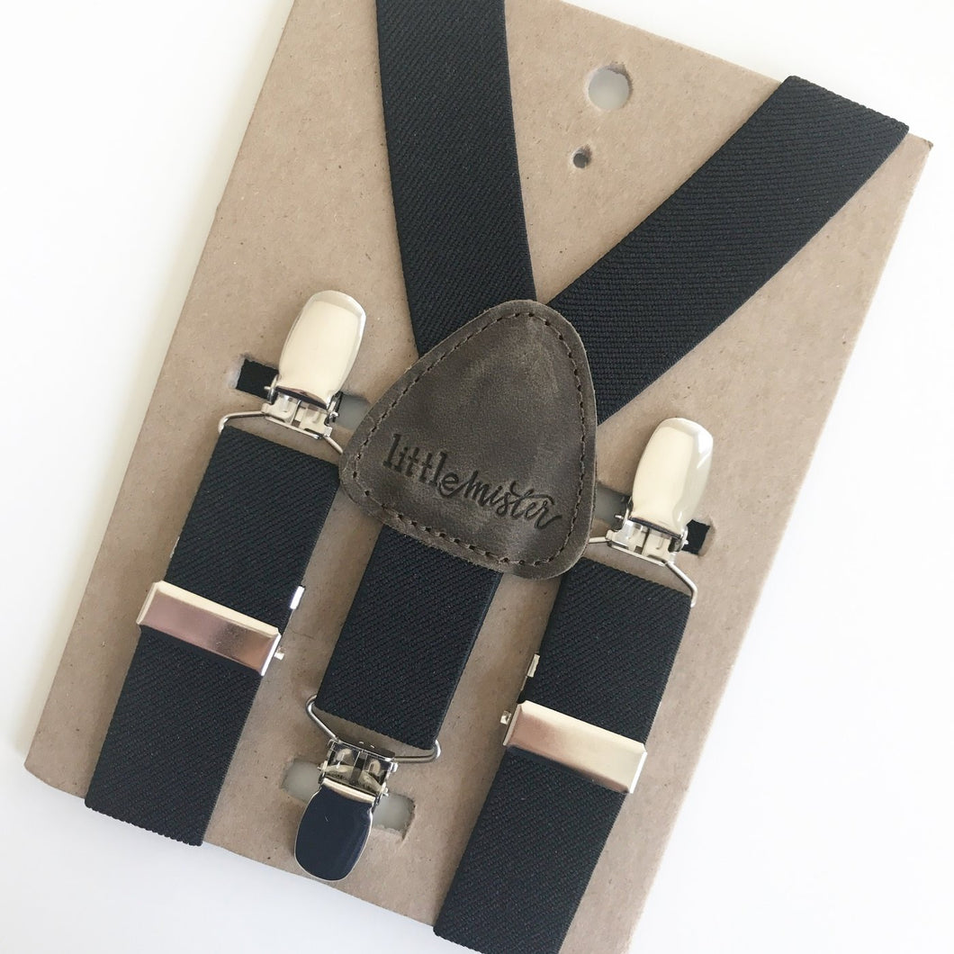 Little Mister Suspenders - Black - Bloom Kids Collection - Little Mister