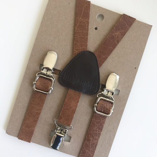 Little Mister Suspenders - Leather
