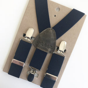 Little Mister Suspenders - Navy - Bloom Kids Collection - Little Mister