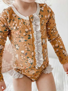 Made by Molly Rash-Guard Swimsuit - Golden Wildflower