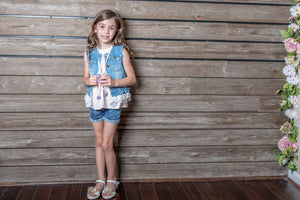 ML Kids Denim Vest - Bloom Kids Collection - ML Kids