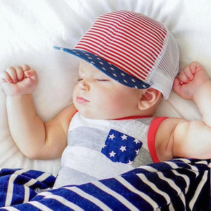 George Hats Patriotic Trucker Hat - Bloom Kids Collection - George Hats