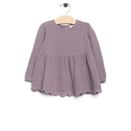City Mouse Muslin and Lace Peplum - Violet - Bloom Kids Collection - City Mouse