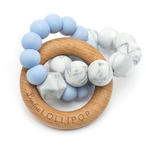 Loulou Lollipop Trinity Teether - Baby Blue