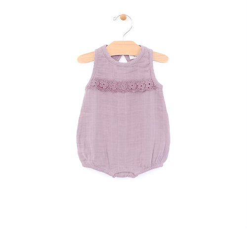 City Mouse Muslin Bubble Bloomer - Lilac - Bloom Kids Collection - City Mouse