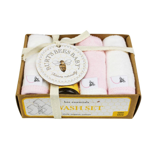 Burt's Bees Knit Terry 3pk Washcloths + Wash - Blossom - Bloom Kids Collection - Burt's Bees