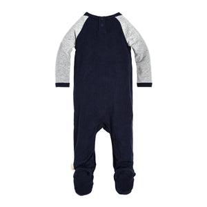 Burt's Bees Raglan Footed Coverall & Hat Set - Midnight - Bloom Kids Collection - Burt's Bees