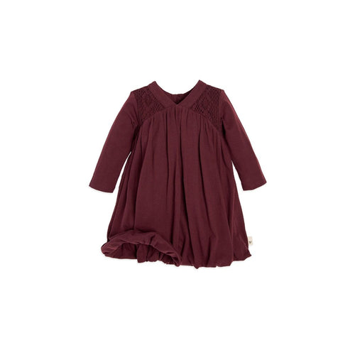 Burt's Bees Crochet Yoke Bubble Dress - Winter Berry - Bloom Kids Collection - Burt's Bees