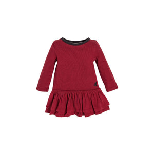 Burt's Bees Thermal Ruffle Skater Dress & Legging Set - Cranberry - Bloom Kids Collection - Burt's Bees