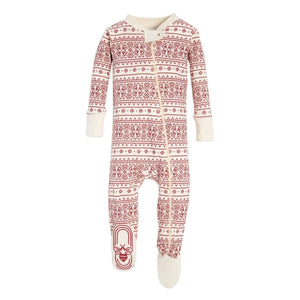 Burt's Bees Fair Isle Sleeper - Ivory - Bloom Kids Collection - Burt's Bees