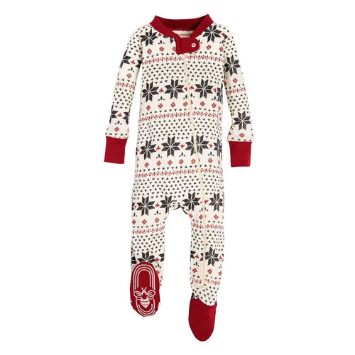 Burt's Bees Hand Drawn Snowflakes Sleeper - Ivory - Bloom Kids Collection - Burt's Bees