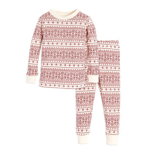 Burt's Bees Fair Isle Tee & Pant Set - Ivory - Bloom Kids Collection - Burt's Bees