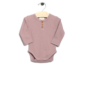 City Mouse Waffle Bodysuit - Mauve - Bloom Kids Collection - City Mouse