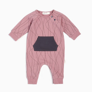 Miles Baby Ski Tracks Playsuit - Dusty Pink - Bloom Kids Collection - Miles Baby