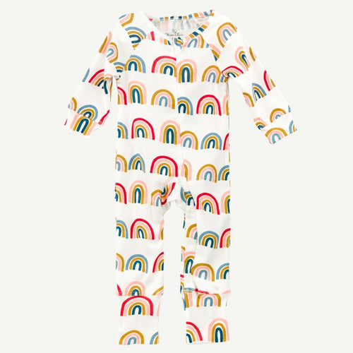 Oliver and Rain Rainbow Print Unionsuit - Bloom Kids Collection - Oliver and Rain