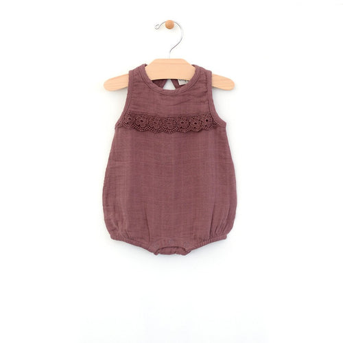 City Mouse Muslin Bubble Romper - Orchid - Bloom Kids Collection - City Mouse