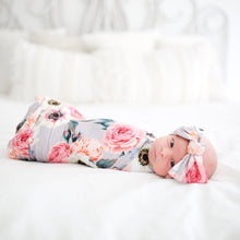 Posh Peanut Swaddle Headband Set - French Gray - Bloom Kids Collection - Posh Peanut